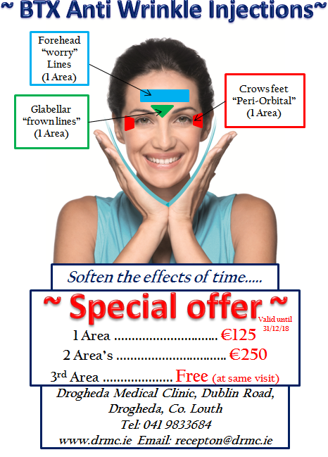 Special Offer on anti-wrinkle injections - Drogheda Medical Clinic